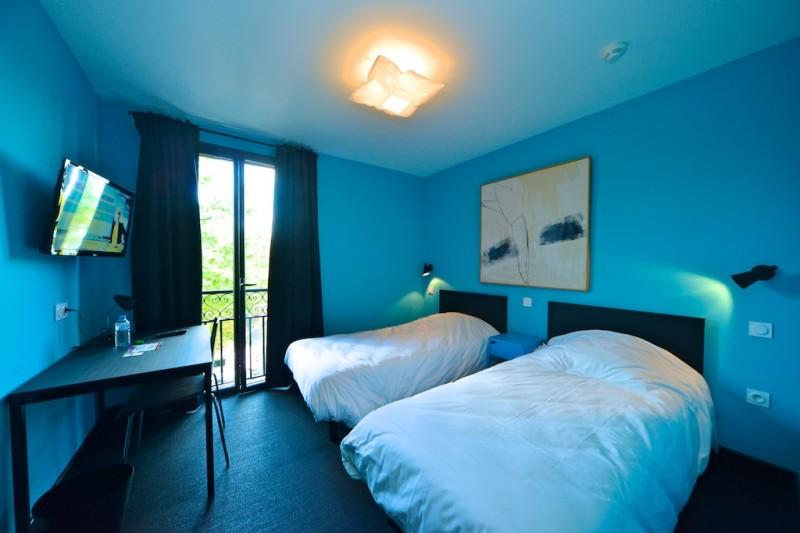 Hôtel Vierzon - Chambre bleue